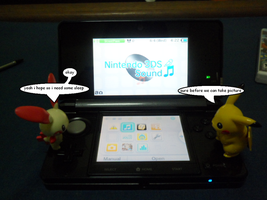 Plusle and Pikachu use 3DS 6 by efilvega
