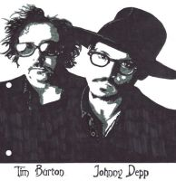 Tim Burton And Johnny Depp by ladyconniver