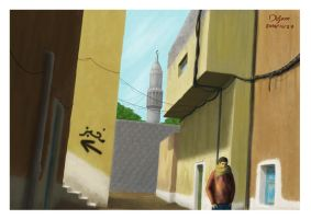 Arab neighborhood by DejamArt