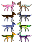 Wolf Breedables Sheet A by Rabbidsquierrel