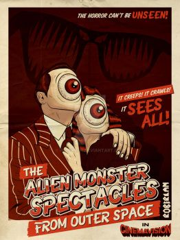 Alien Monster Spectacles From Outer Space by roberlan