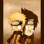 Sasuke and Naruto by gothic-anomie