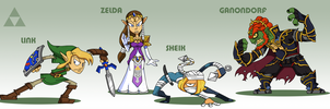 SMASH: Zelda Team by professorfandango
