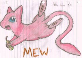 Mew and his Fruit by wildclaws-secret