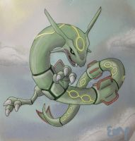 Rayquaza by EemsArt