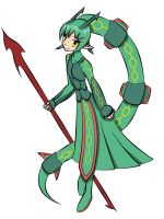 Moemon Rayquaza by frozen--phoenix