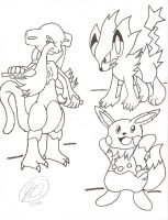 More Pokemon Fusions by ChibiKirbylover
