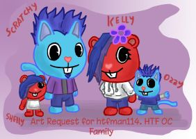HTF OC Scratchy and Family. by wolfmarian