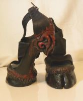 Demon hooves- Heeless Boots and Shoes. Custom Made by oonacat
