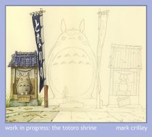 In Progress: The Totoro Shrine by markcrilley