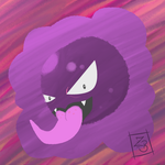 Spooky Pieces: Day Two (Gaseous Gastly) by BizarreSkullkid