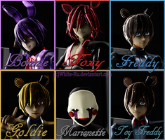 Shipping for female fnaf crew by White-Hu