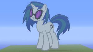 Vinyl Scratch Built In MineCraft by the-black-paw