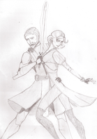 Obi Wan and Satine by blackbird223