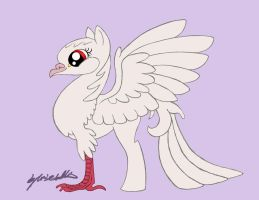 My little HippoGriff Dove WIP by Loucathwil