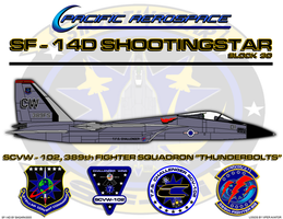 SF-14D Shootingstar Poster by viperaviator