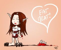 eat meat by Ssynahya