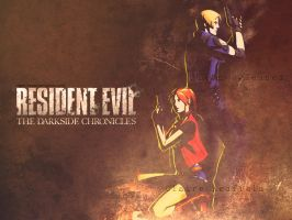 Leon and Claire wallpaper by Claire-Wesker1