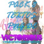 Pack textos png VICTORIOUS by MeelaBosteritaa