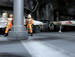 Custom Diorama - Rebel Hangar by BlckThorne
