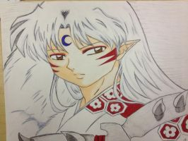 Lord Sesshomaru - Coloured by CrystalizedBlood