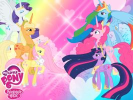 My little pony princess Wallpaper by Invader-Zil