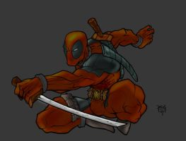 DeadPool Colored by commanderlewis
