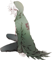 Super Dangan Ronpa 2 Render - Komaeda Nagito by WhateverheadDrop