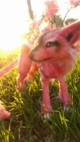 Handmade poseable Cherry blossom Guardian by KaypeaCreations