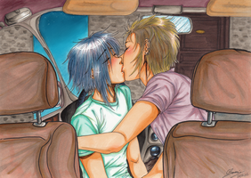 Zemyx - Sweet kiss in your car by x-Lilou-chan-x