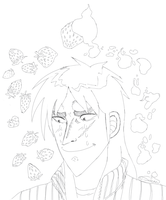 Kaiji and the lost strawberry by SaturnicSorian