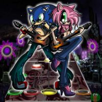 Guitar Hero - Sonic Style by FallenAngelCam7