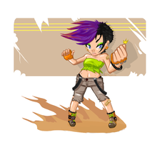 hyper fighting girl plus : 54 by divi
