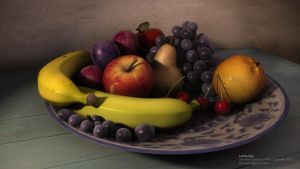 Fruit platter by leticiakao