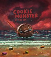 Cookie Monster at the sea by gagatka27