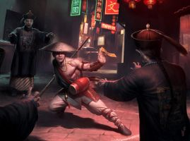 Chinese Vampire Hunter by wraithdt