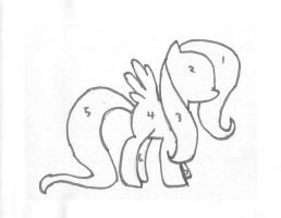 Make Your Own Fluttershy Stencil by SCARFI5H