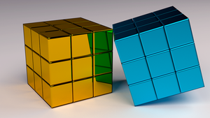 Cubes in Chrome-Yellow by Dario999