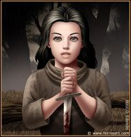 Girl with knife by Ferres