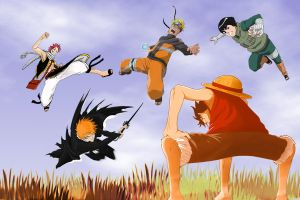 Luffy Vs Naruto by DrLinuX