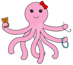 Pink Octopus Logo - Colored by ShrimpBisque