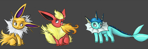 First Eeveelutions by zurisu