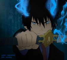 Ao no Excorcist: Rin Okumura by kuelachan