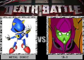 Death Battle Metal Sonic vs SA-X by Gatlinggundemon9