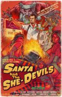 Santa and the She Devils by WacomZombie