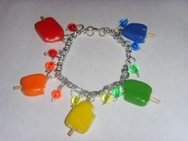 Ice Lolly Charm Bracelet by tyney123