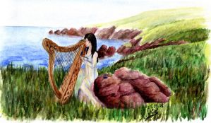 The Angel of Rome - Celtic Harp by LadyAzurFromAlkemya