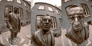 Fisheye on a statue by TanorY