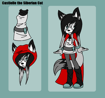 {Reference} Castielle the Siberian Cat by unmei-no-tamashii