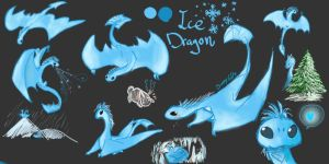 Ice Dragon by BunnyGDx